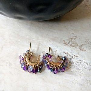 Talisman baby hoop earrings.